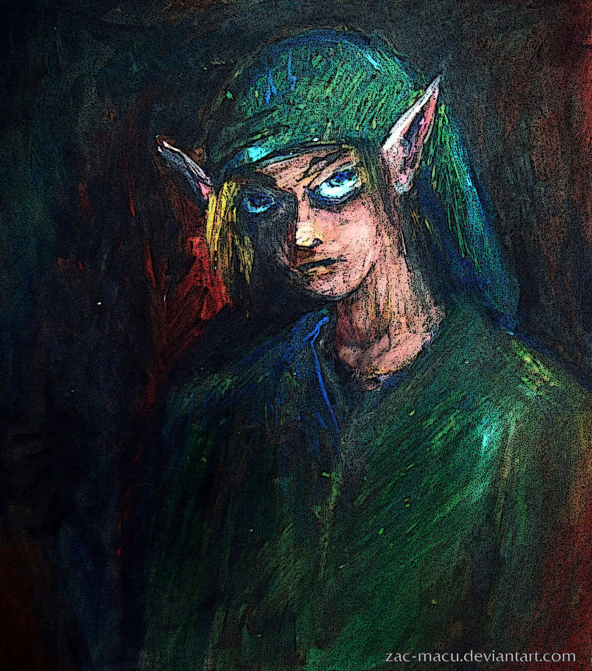 The legend of zelda: A link's portrait by ZAC-Macu