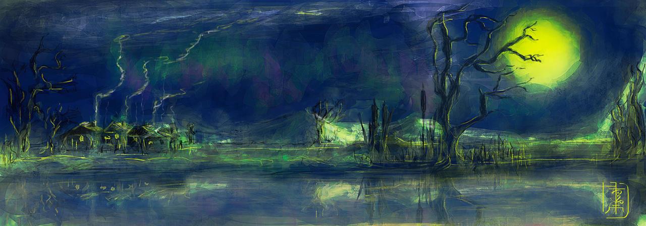 Silent aurora night by Avriad