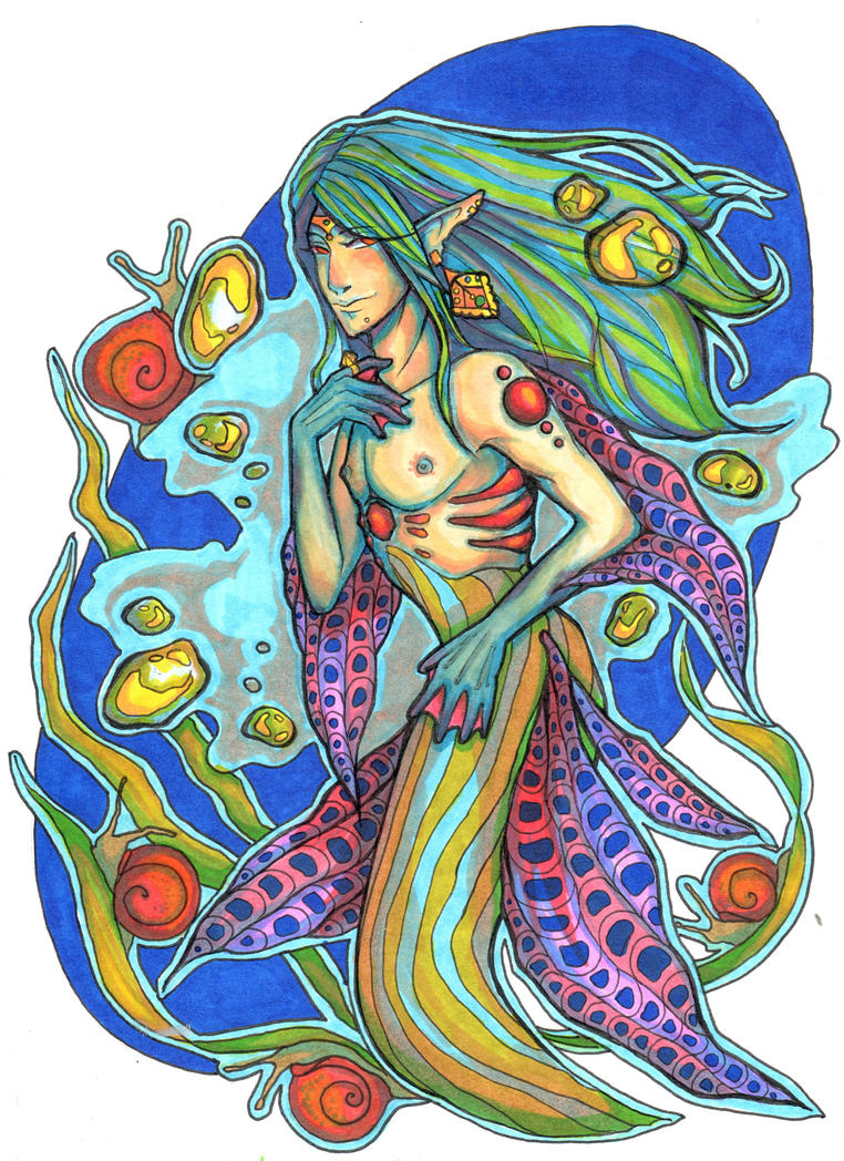 Ahti - a mermaid. by MaToKiRo