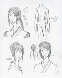 10: Kirigakure Saizou Design Sketches by Water-Earth-Fire-Air