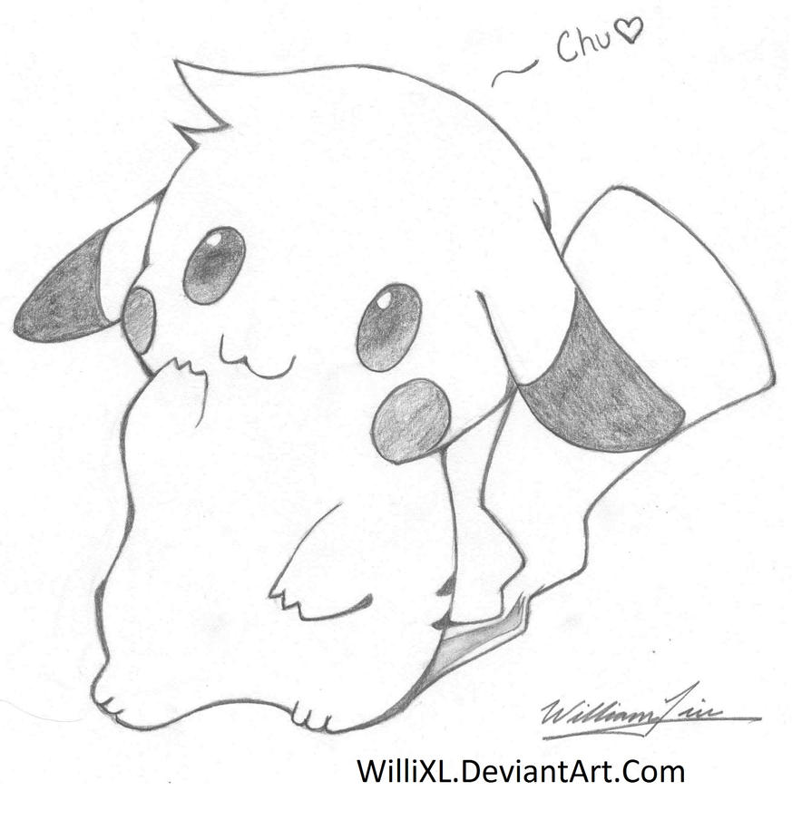 Super cute pikachu by willixl on deviantart for Super easy drawings
