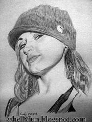 Portrait of girl with hat by hellxfun