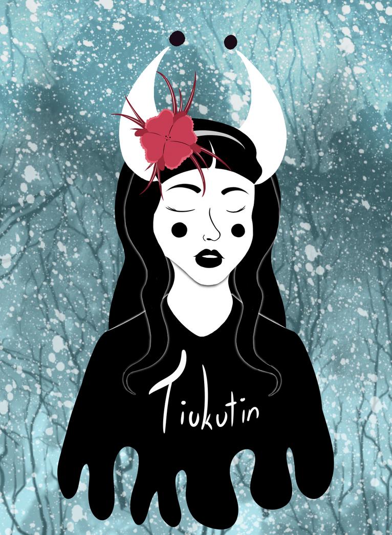Lady in black by Tiukutin