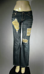 Chainmail-Patched Jeans full