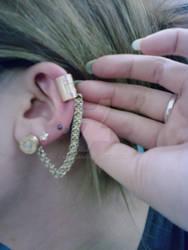 Set of Three Bullet Earrings w/ Cuff 1