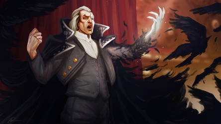 League of Legends - Opera Swain (fan art concept) by bean-cake