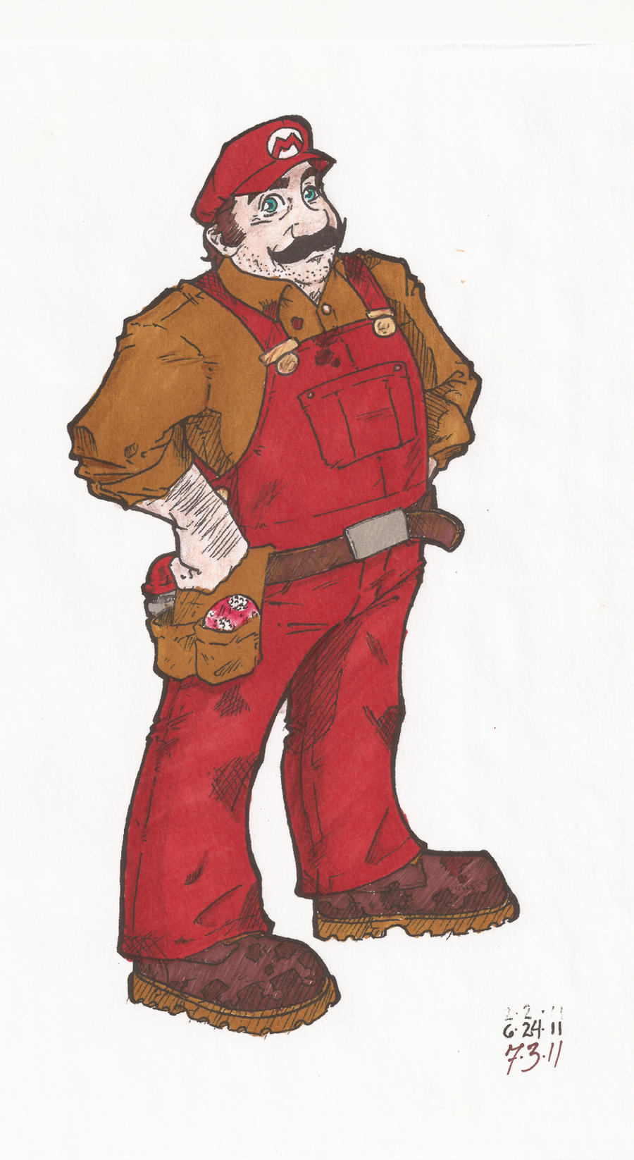 Mario. smb1 by LOUPZ28