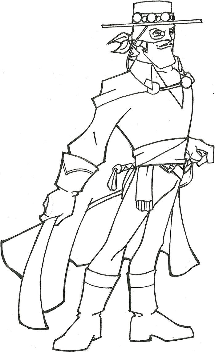 zoro coloring pages - zorro the movie coloring page pages sketch coloring page