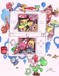 Nintendo DS by CinnamonSwirls