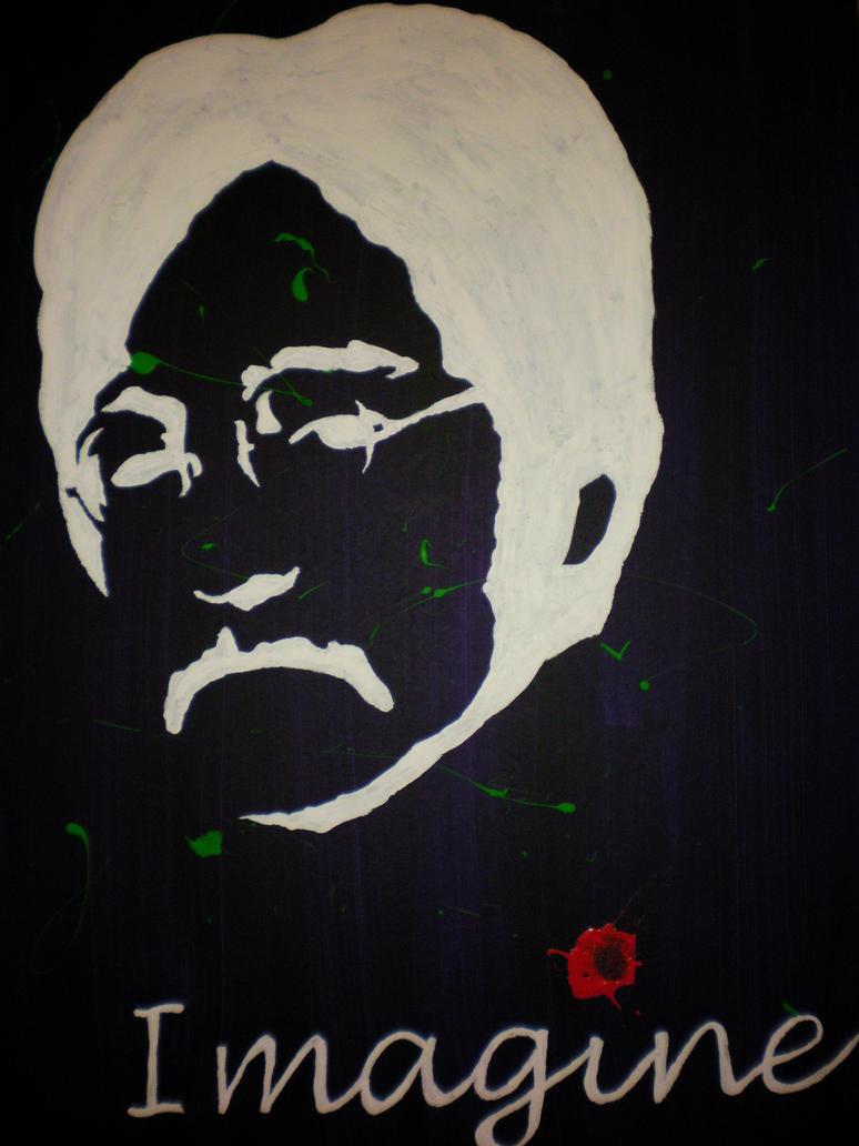 John Lennon Abstract train by whojonjones