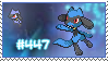 Stamp - Riolu by Evadoll