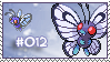 Stamp - Butterfree by Evadoll
