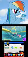 Rainbow Dash playing Sonic Generations
