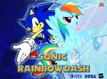 Wallpaper Sonic the Hedgehog and Rainbow Dash