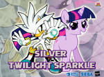 Wallpaper Silver the Hedgehog and Twilight Sparkle