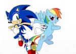 Sonic and Rainbow Dash