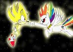 Super Sonic and Super Rainbow Dash