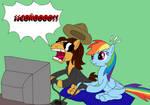 Dross Pony and Rainbow Dash