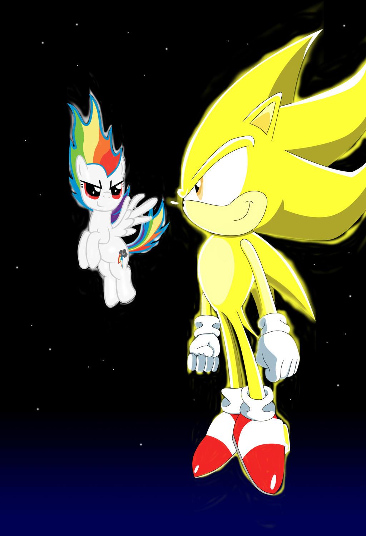 Super Sonic And Super Rainbow Dash By Lightdegel On Deviantart