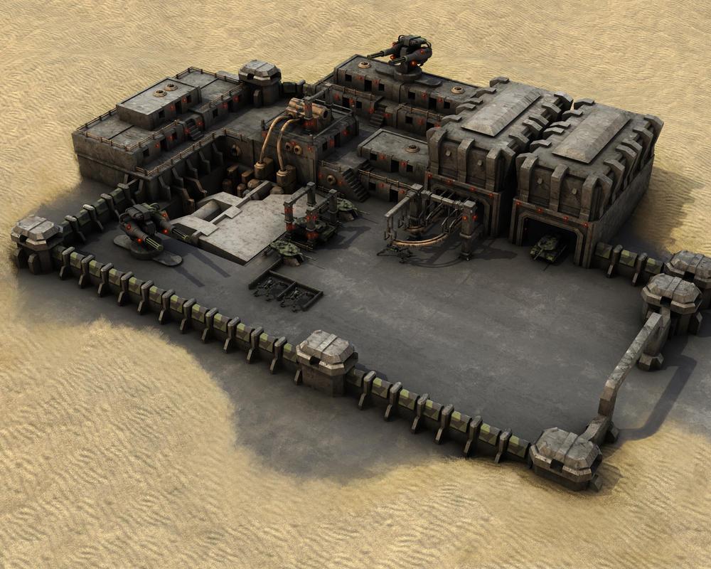 Futuro sombrío Cap 2 Military_Desert_Outpost_MK1_by_eRe4s3r