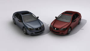 Acura RL 2005 Low Poly