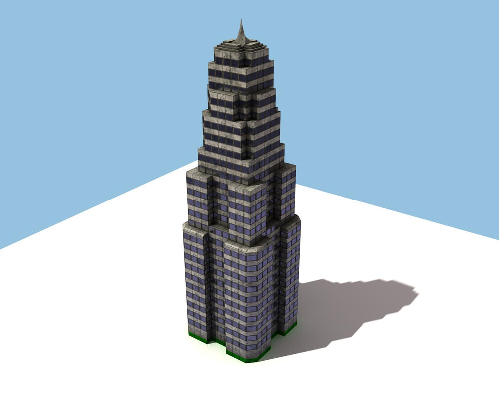 Third Low Poly Art Pubg: Low Poly Skyscraper Update 3 By ERe4s3r On DeviantArt