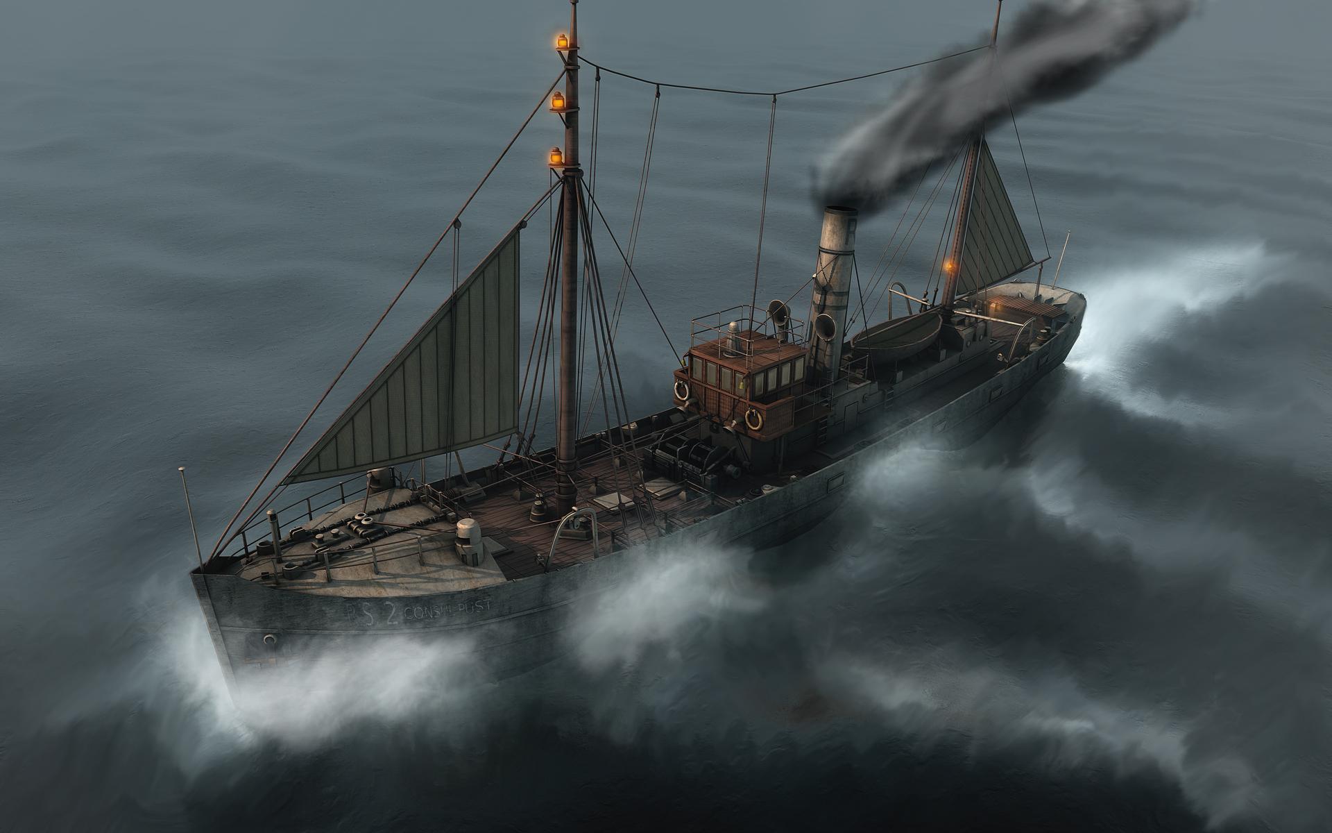 Fishing Trawler 1920 Scenic
