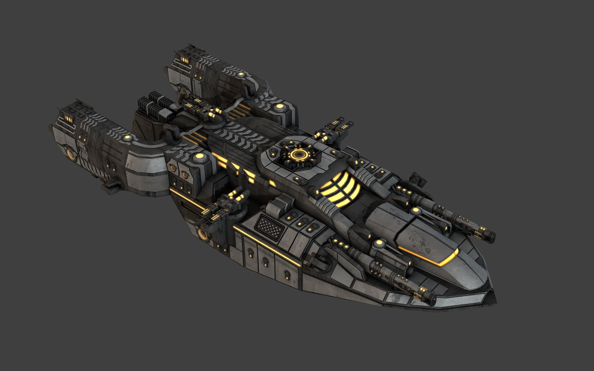 Space Frigate View 1