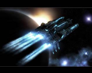 A Spaceship in twilight rev4