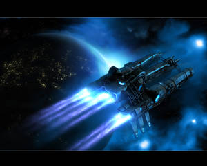 A Spaceship in twilight rev5