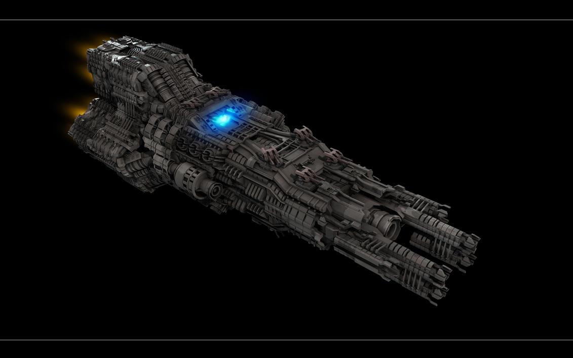Taller de Encargos Oficial: Naves espaciales [Pide aquí tu nave espacial] Complex_Spaceship_View_1_by_eRe4s3r