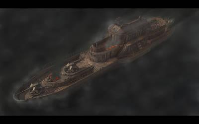 Steam Cruiser on Fire