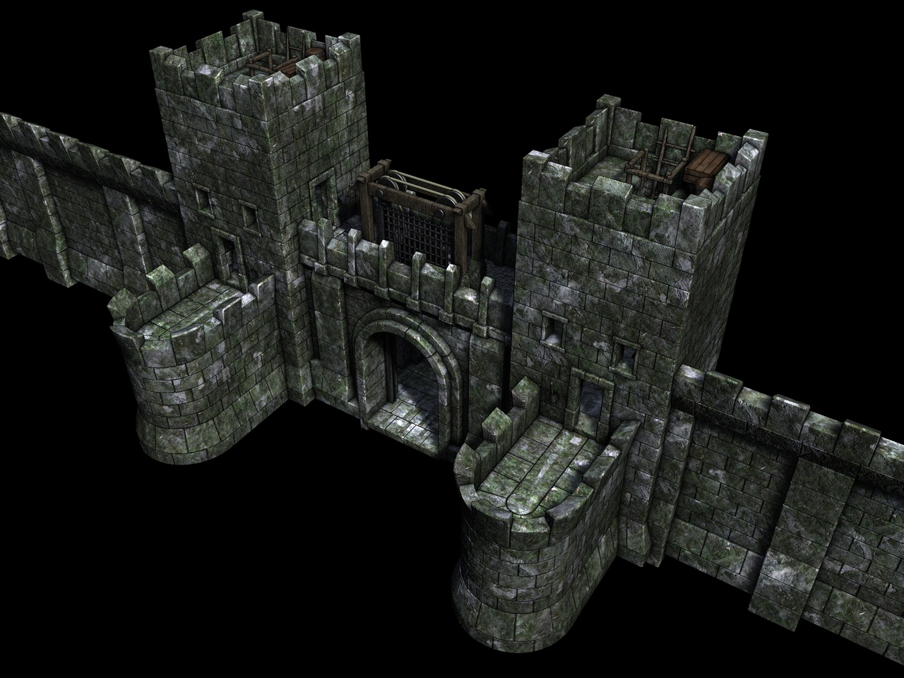 Castle Walls With Gate By Ere4s3r On Deviantart