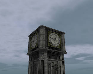 Fictional Clock Tower Base WIP by eRe4s3r
