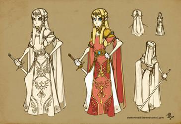Zelda Costume Concept by DemonRoad