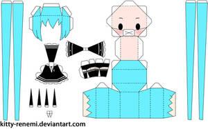 Secret Police miku papercraft by Kitty-Renemi
