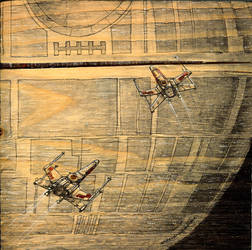 star wars: assult on the death star by andyvanoverberghe