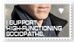 Supporting Sociopaths Stamp by LetsSaveTheUniverse