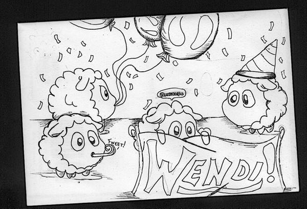 Kirby Sheep Birthday Card By Kefka750 On Deviantart