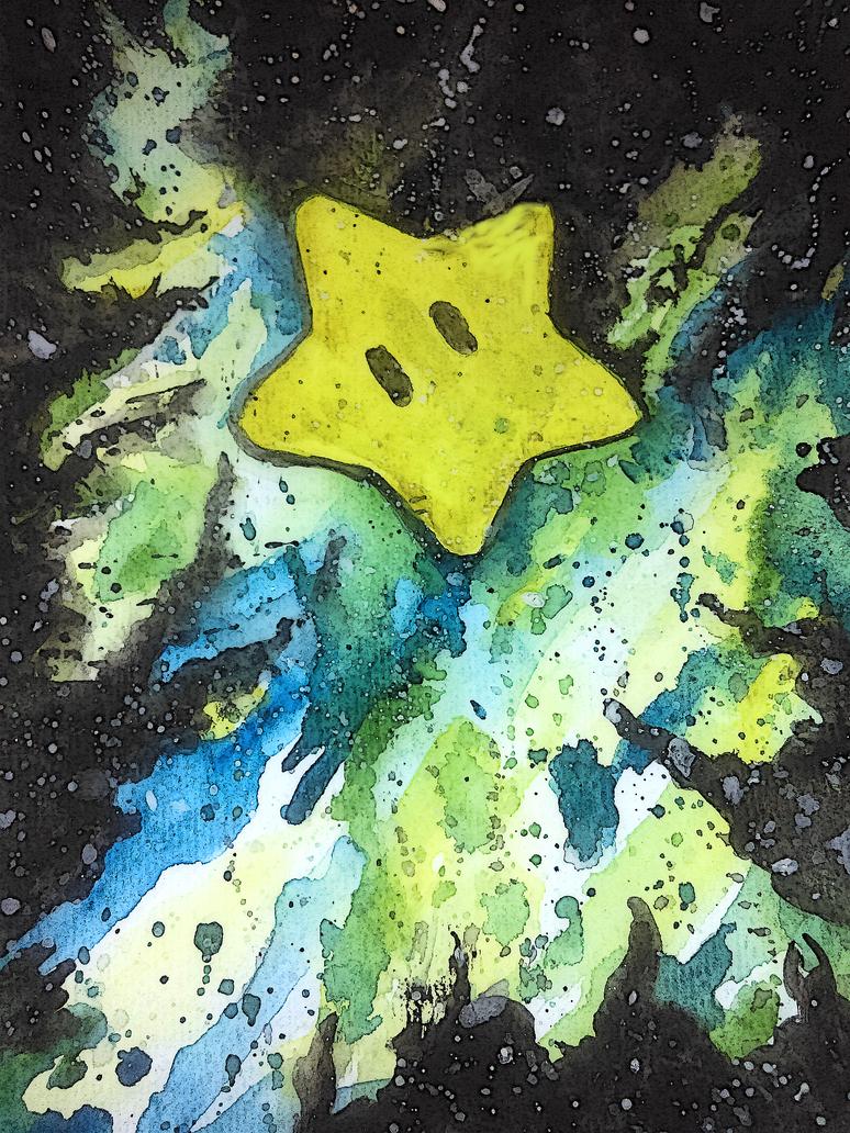 Water Color Mario Galaxy by Kefka750