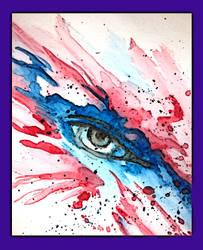 Abstract WaterColor Eye 1 by Kefka750