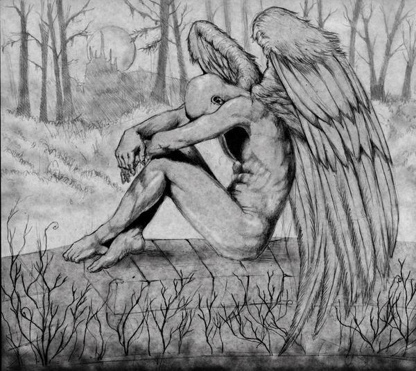Sad Angel Sketches Sad Angel Sketch Sad Angel by