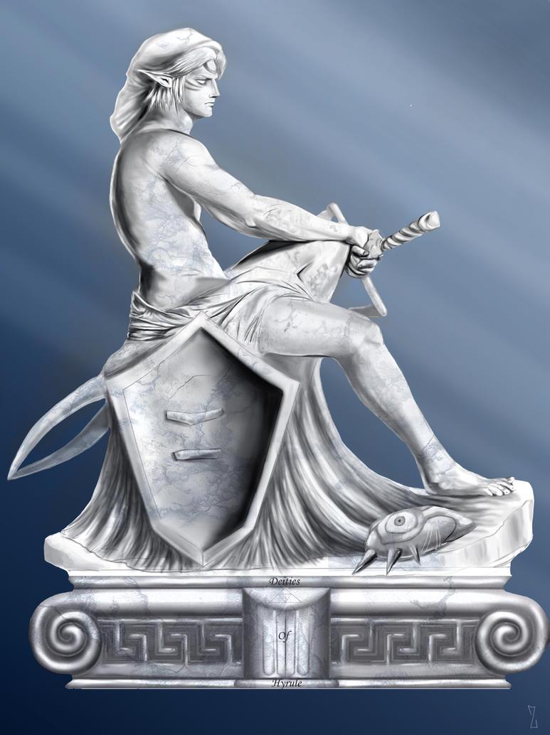 fierce deity sculpture by ZaloHero