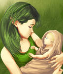 young saria and link