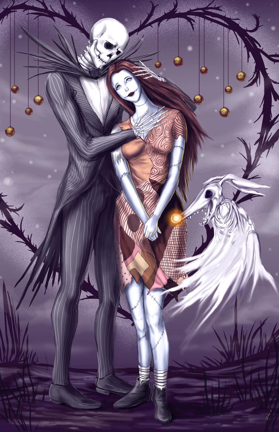 Jack and Sally by ZaloHero on DeviantArt