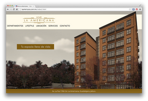 La Americana website design and development