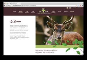Reserva De Los Encinos website design