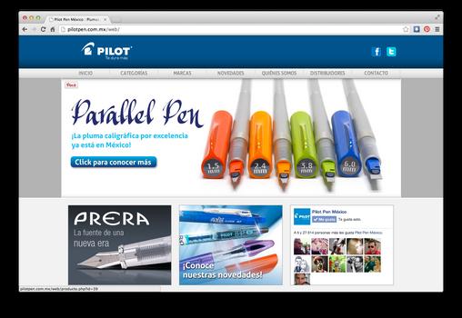 Pilot Pen web design and development