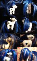 blue rose custom pony by funshinebear