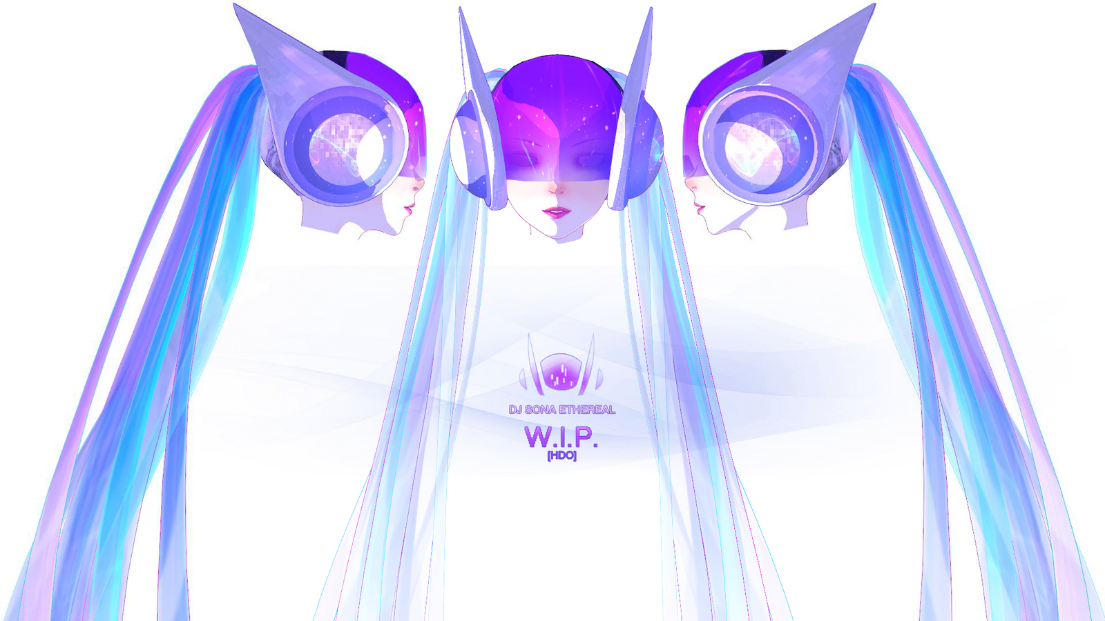 DJ Sona [ETHEREAL form] W.I.P. by Hidaomori on DeviantArt